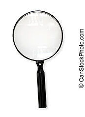 Magnifying Glass with Path - Magnifying glass, isolated on...