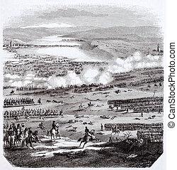 Battle of Austerlitz old illustration, After plans kept in...
