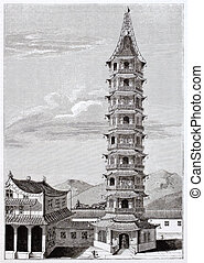 Porcelain tower - Nanjing porcelain tower old view, then...