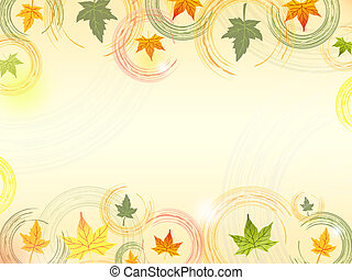 autumn leaves background - background with illustrated...