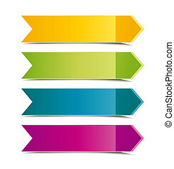 color arrows - Collection of color arrows with place for...