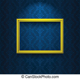 Frame on the blue wall
