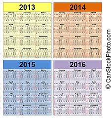 2013-2016 - Calendar years 2013 -2020
