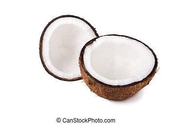 Hälften, kokosnuss