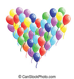Abstract heart balloon vector Concept illustration Valentine...