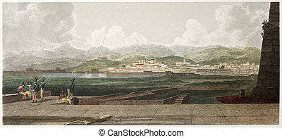 Messina from lighthouse - Messina old view from the...