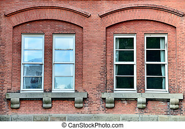 Window of brick building.