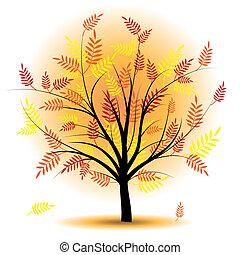 Beautiful autumn tree vector.