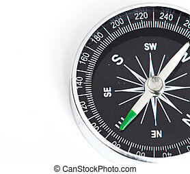 black Compass isolated on a whita background