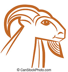 Zodiac sign - Capricorn - Zodiac sign Capricorn logo, icon...