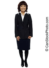 Experienced Asian business lady. Team leader