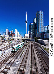 Railway Train Toronto - Railway Train at Toronto with Canada...