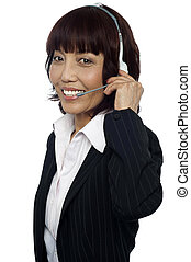 How may I help you today - Customer service executive...