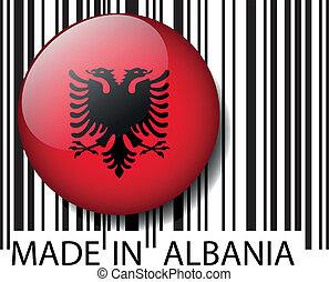 Made in Albania barcode. Vector illustration