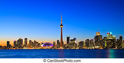 Spectacular Toronto Skyline - Scene of Toronto skyline from...