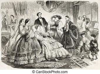 Fashion 1860 - fashion, man, woman, women, children, ldy,...