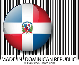 Made in Dominican Republic barcode. Vector illustration