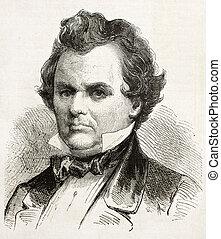 Douglas - Stephen, Douglas old engraved portrait, Democratic...