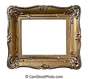 Antique Picture Frame - Old vintage metal photo frame...