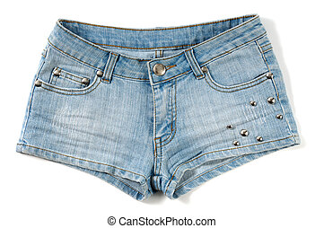 Blue female jeans shorts
