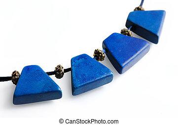項鏈, 藍色, 珍寶