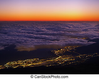 Sunrise on Teide, Canary Islands, Spain - photo was taken...