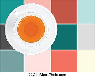 Tea on a napkin