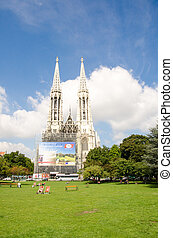 Vienna - Famous Votivkirche  - Votive Church