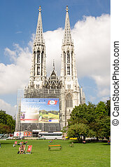 Vienna - Famous Votivkirche - Votive Church - VIENNA - JUL...