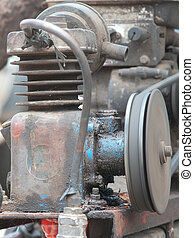 Air Compressor - Cylinder of simple, home-made air...