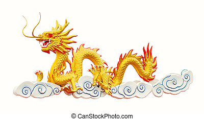 Golden Dragon on clound