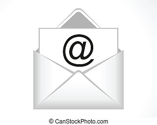 abstract email icon vector illustration