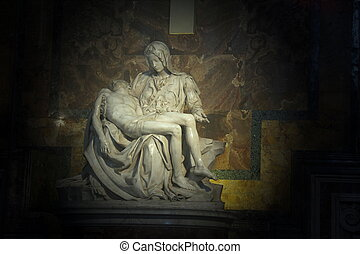 La Pieta in Saint Peter Basilica - La Pieta (The Pity),...