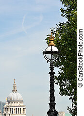 Street lamp with St Pauls in distance