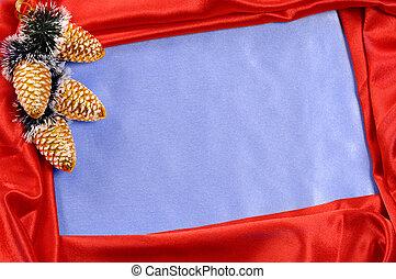 Christmas Frame - Red blue decorative christmas frame