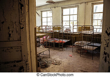 Abandoned nursery at Chernobyl march 2012