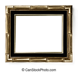 Bamboo Picture Frame - Gilded bamboo decorative picture...