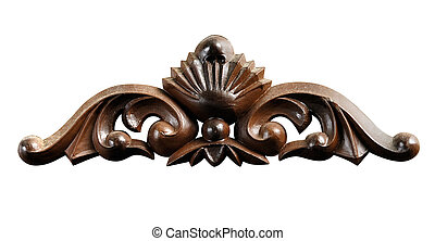 Ornament Made of Wood - Decorative wooden ornament Antique...
