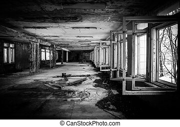 Abandoned Corridor in Chernobyl march 2012