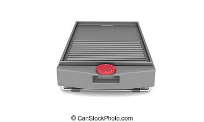 Barbecue rotates on white background