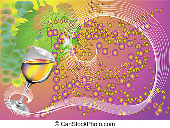 background with a glass of wine