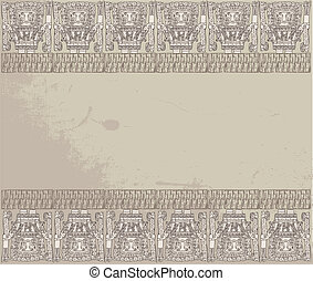 Grunge inca background Vector illustration