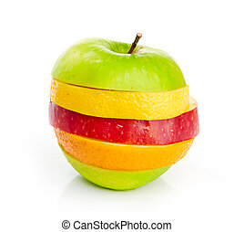 Mixed Fruit isolated on a white background