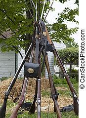 Civil War Re-enactment - Civil War Enactment. Century...