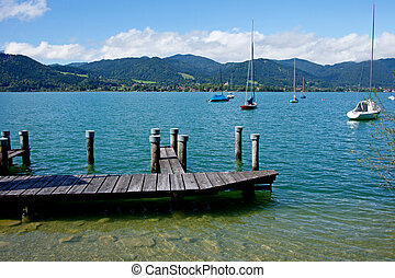 View of the lake Tegernsee in Bavaria
