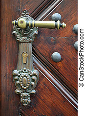 Old metal door-handle
