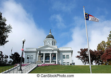 Courthouse lawn - Elegant Jackson County Courthouse sits on...