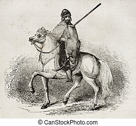 Arab Knight - Arab knight old illustration By unidentified...