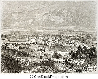 Matanzas old view, Cuba. Created by Lancelot after Mialhe,...