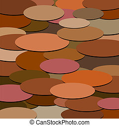 ovals of different colors - background of ovals in different...